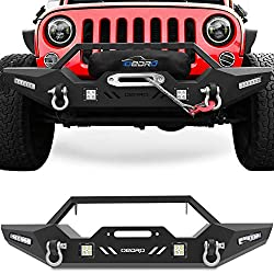 oEdRo Front Bumper Jeep Wrangler JK & Rock Crawler With Winch Plate