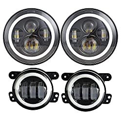 LX-LIGHT Dot Approved 7 Inch Jeep LED Headlights
