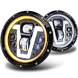 OVOTOR Easy Installation 7 inch LED Jeep Headlights