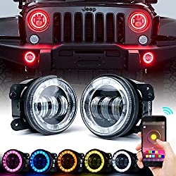 Xprite Bluetooth Controlled 4 inch LED Fog Lights